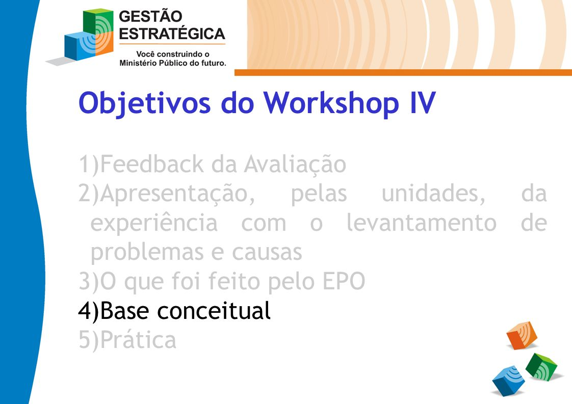 Objetivos do Workshop IV