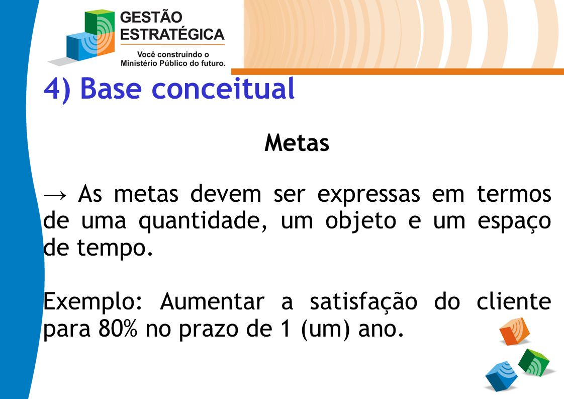 4) Base conceitual Metas