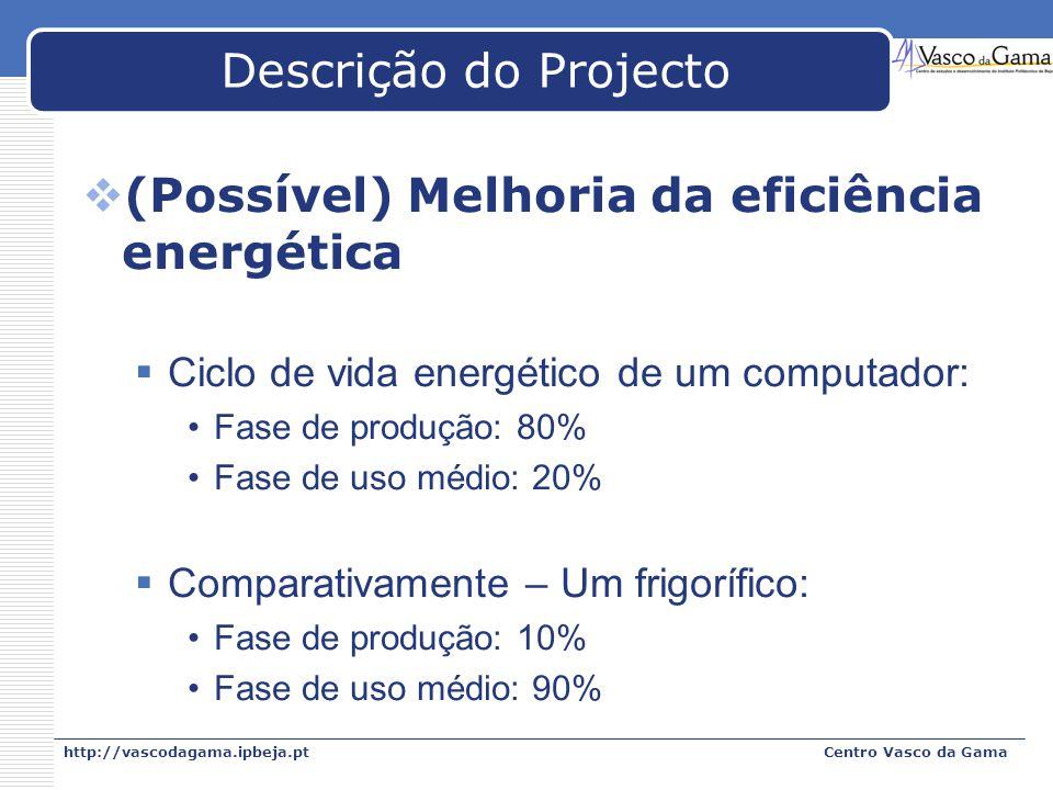 (Possível) Melhoria da eficiência energética