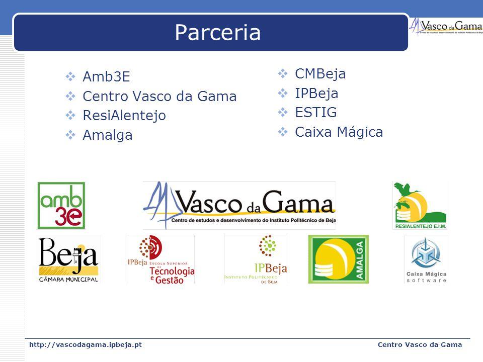 Parceria CMBeja Amb3E IPBeja Centro Vasco da Gama ESTIG ResiAlentejo