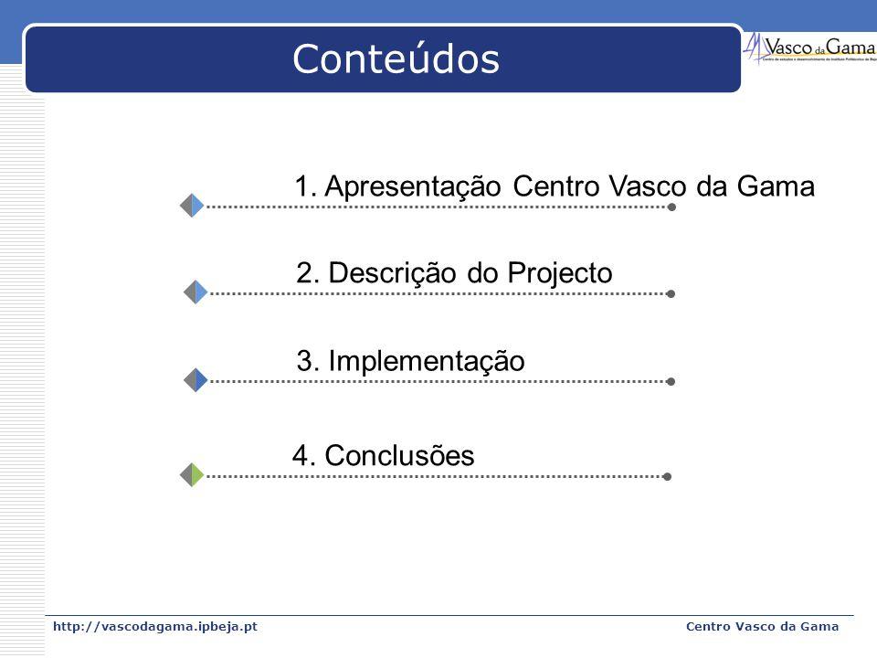 Conteúdos 1. Apresentação Centro Vasco da Gama