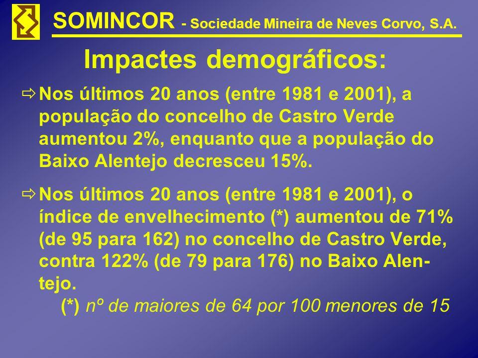 Impactes demográficos: