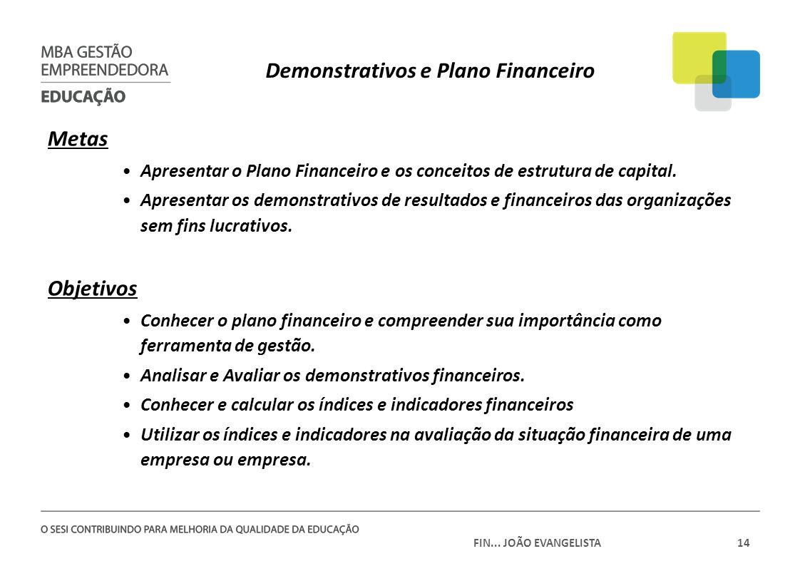 Demonstrativos e Plano Financeiro