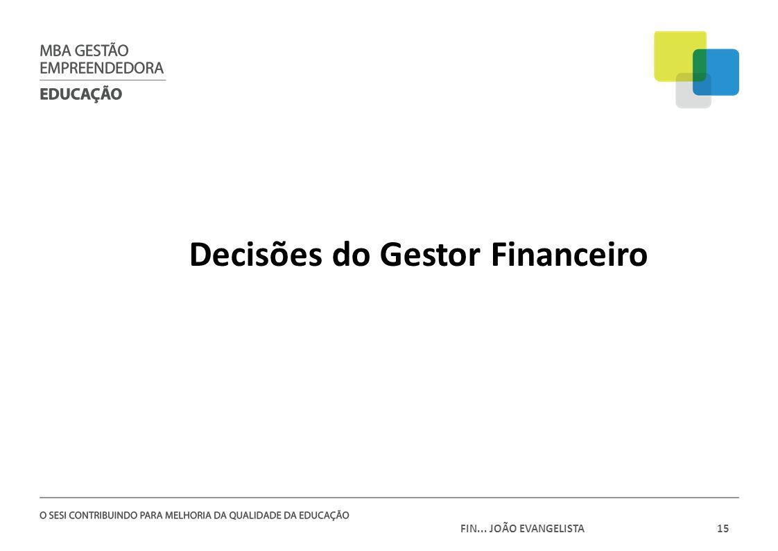 Decisões do Gestor Financeiro