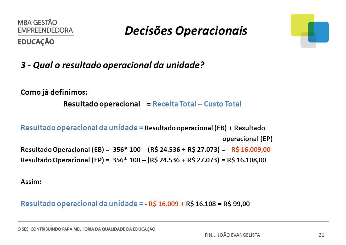Decisões Operacionais