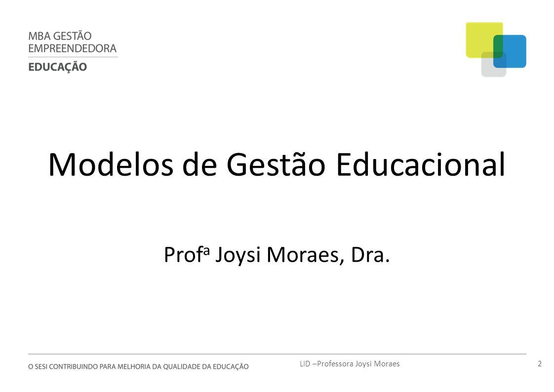 Modelos de Gestão Educacional