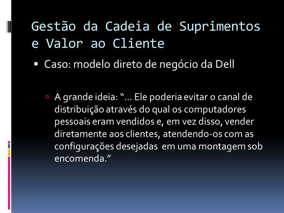 Gestão da Cadeia de Suprimentos e Valor ao Cliente