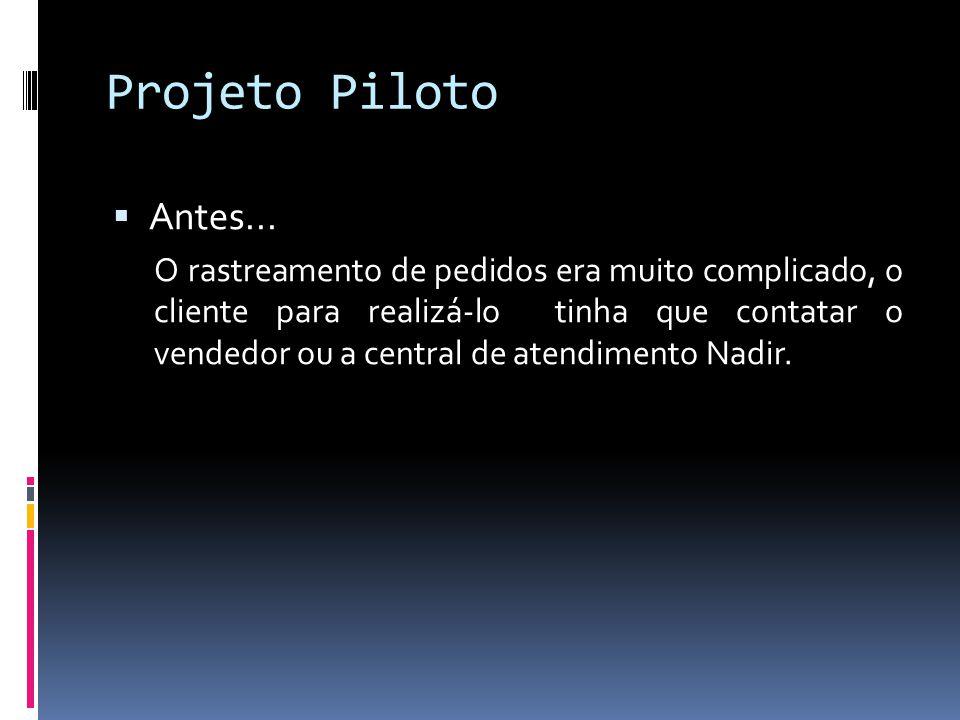 Projeto Piloto Antes...