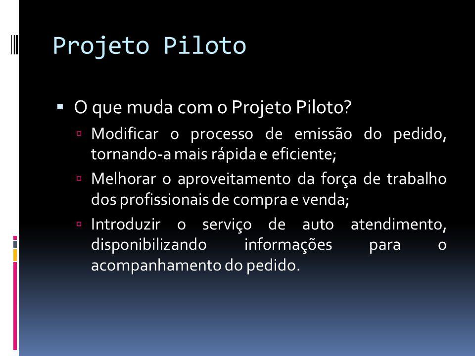Projeto Piloto O que muda com o Projeto Piloto