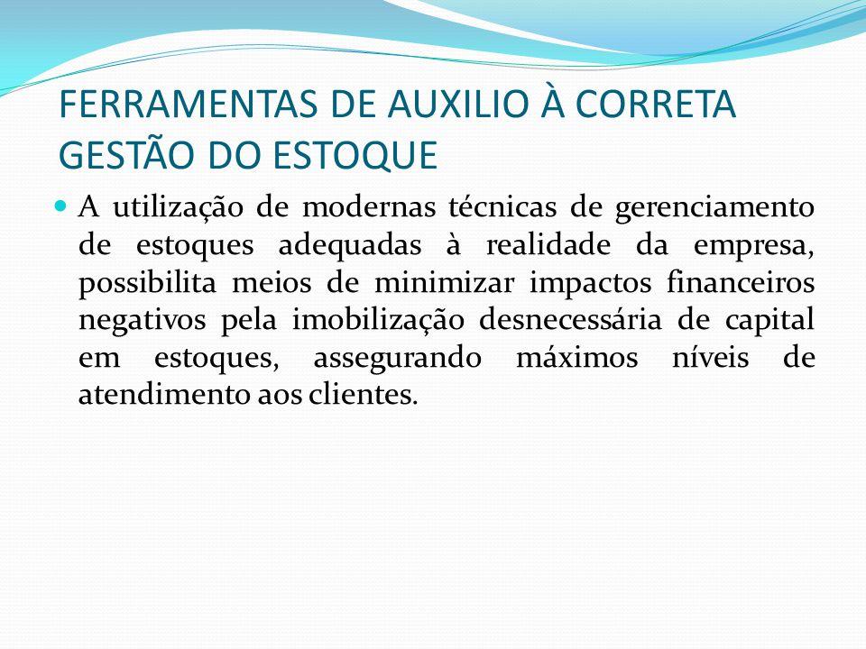 FERRAMENTAS DE AUXILIO À CORRETA GESTÃO DO ESTOQUE