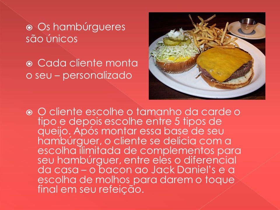 Os hambúrgueres são únicos. Cada cliente monta. o seu – personalizado.