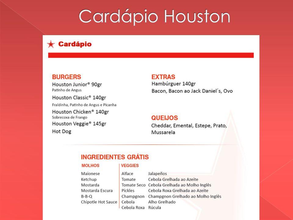 Cardápio Houston