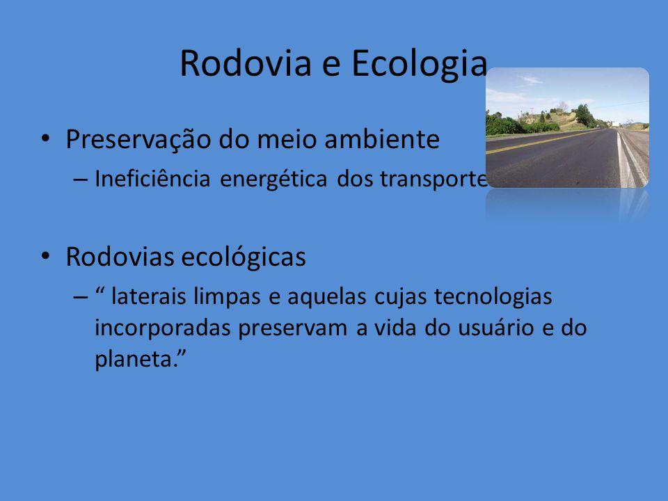 Rodovia e Ecologia Preservação do meio ambiente Rodovias ecológicas