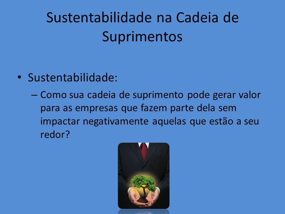 Sustentabilidade na Cadeia de Suprimentos