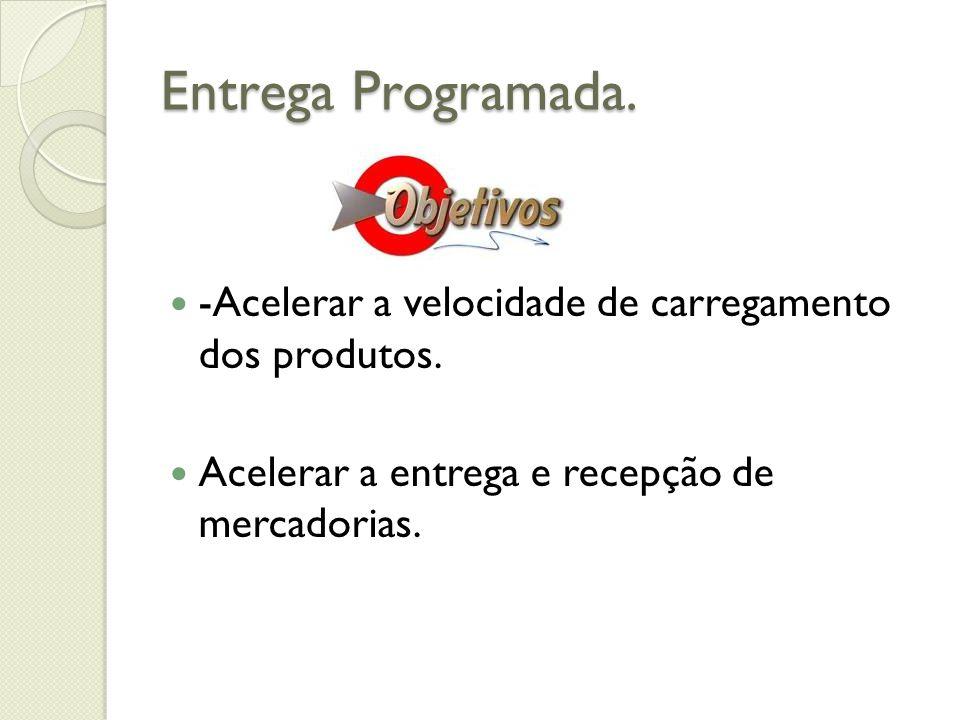Entrega Programada. -Acelerar a velocidade de carregamento dos produtos.