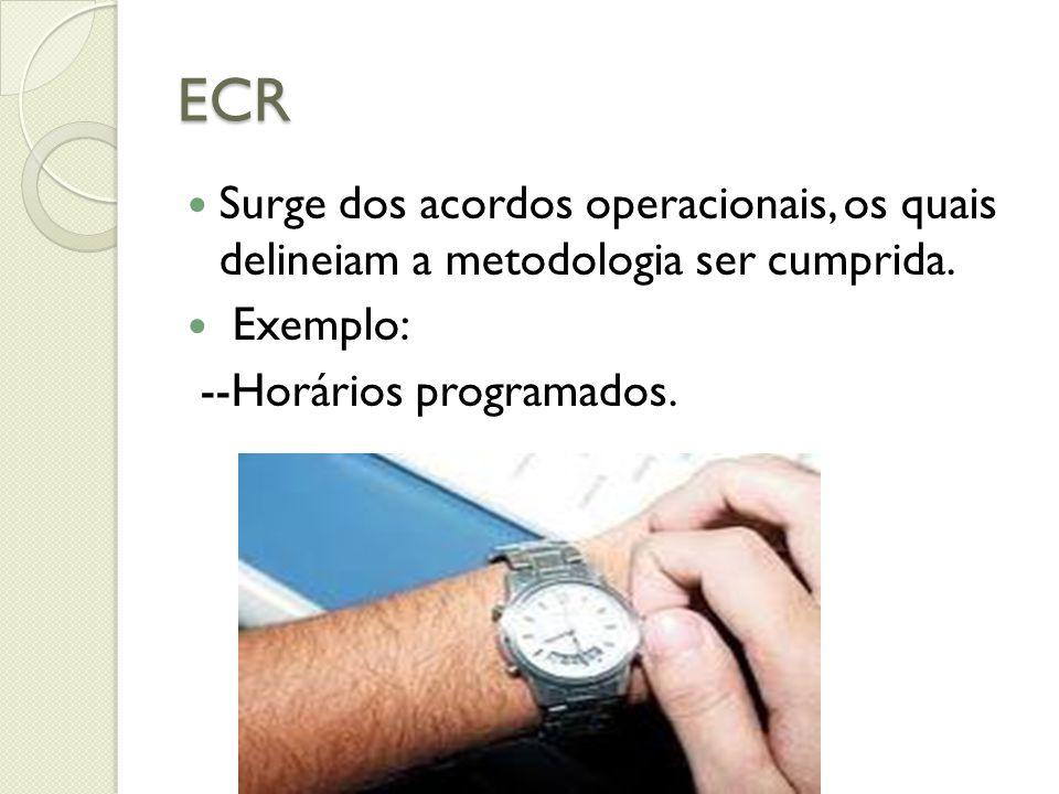 ECR Surge dos acordos operacionais, os quais delineiam a metodologia ser cumprida.