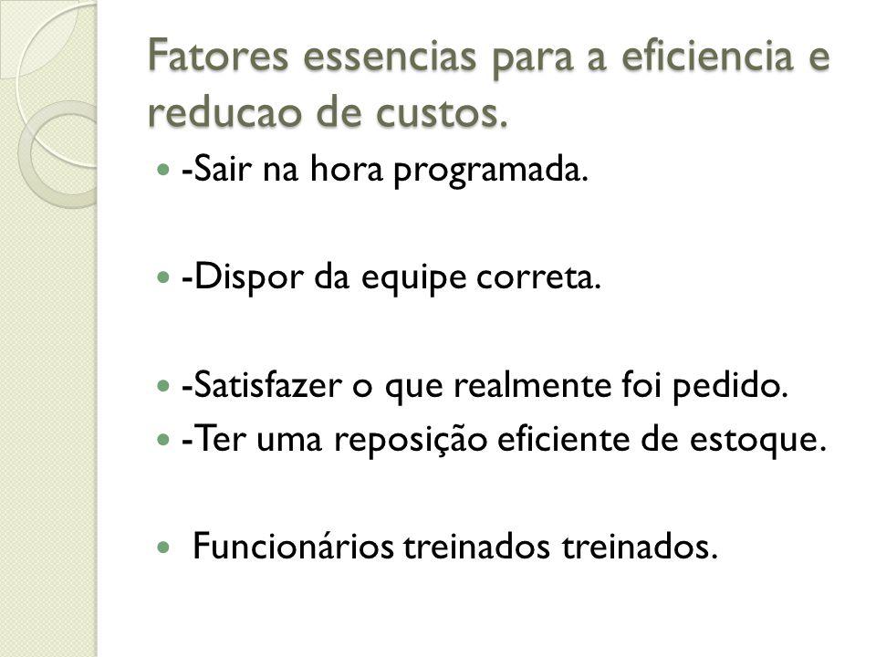 Fatores essencias para a eficiencia e reducao de custos.