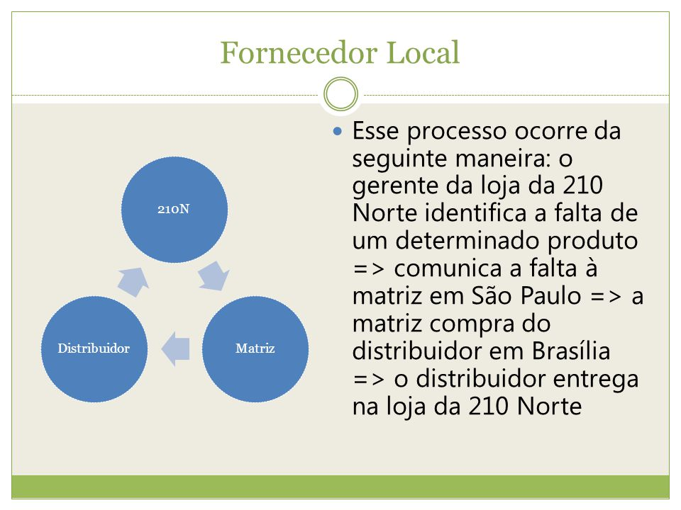 Fornecedor Local