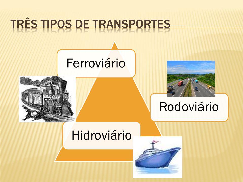 Três tipos de transportes