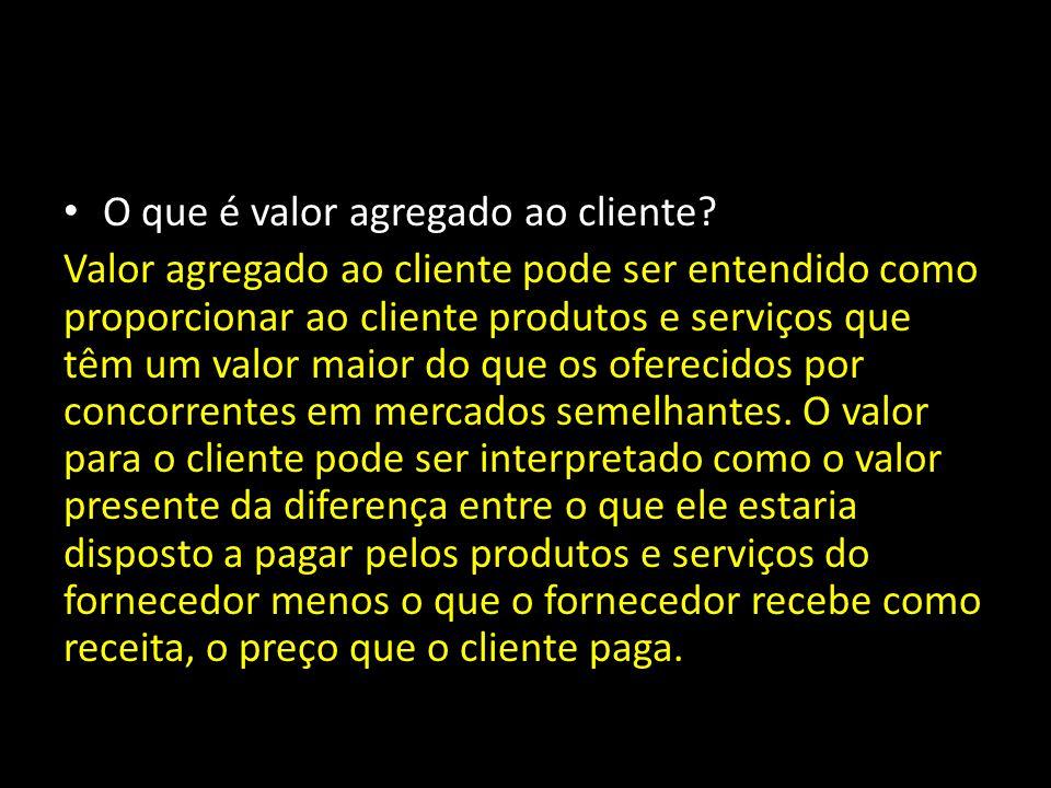O que é valor agregado ao cliente