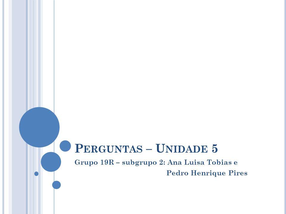 Grupo 19R – subgrupo 2: Ana Luisa Tobias e Pedro Henrique Pires