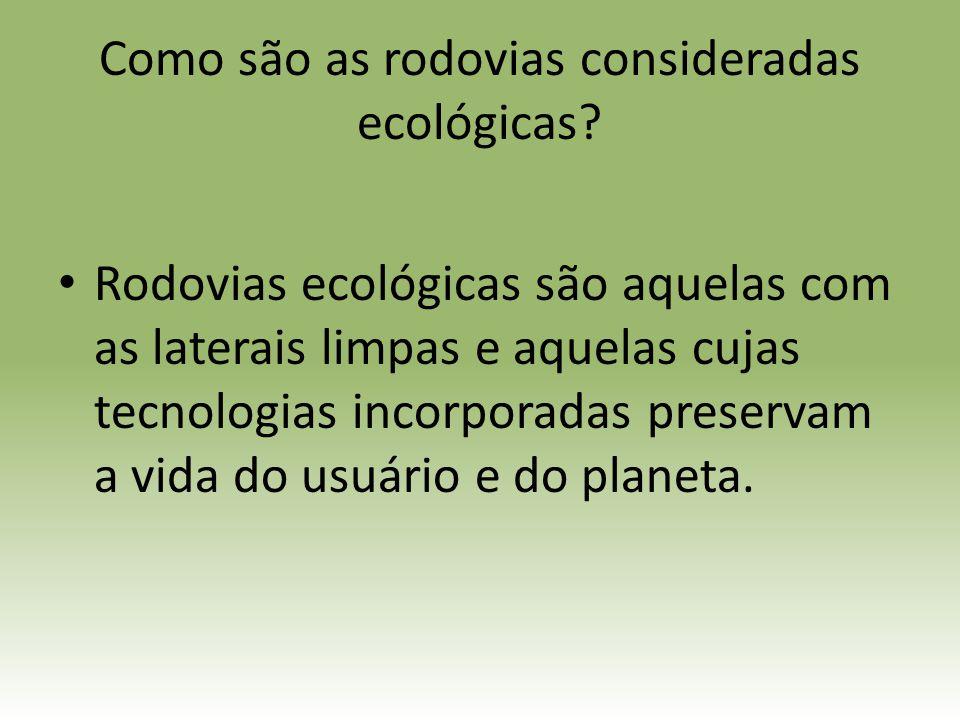 Como são as rodovias consideradas ecológicas