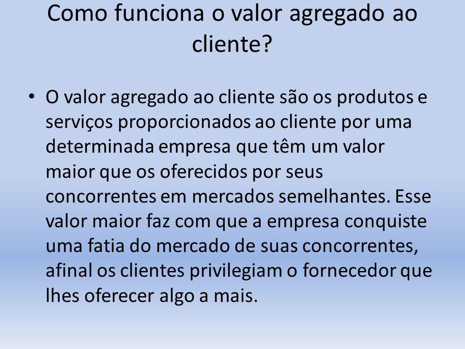 Como funciona o valor agregado ao cliente