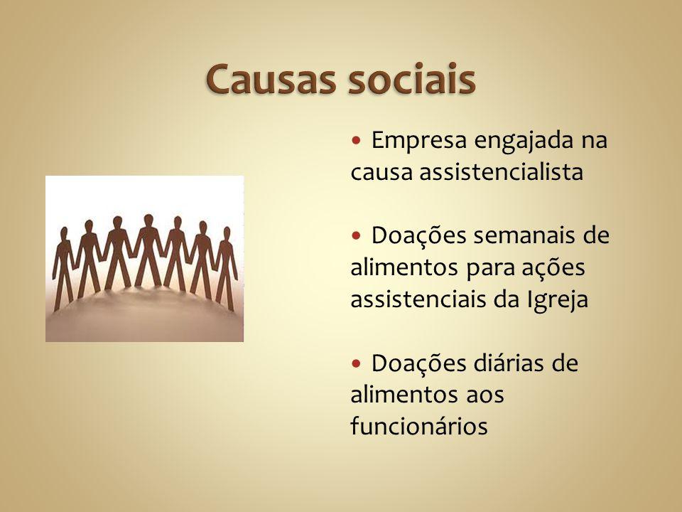 Causas sociais Empresa engajada na causa assistencialista
