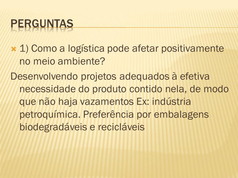 Perguntas 1) Como a logística pode afetar positivamente no meio ambiente