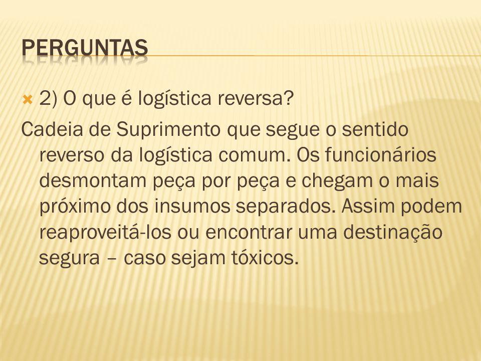 Perguntas 2) O que é logística reversa