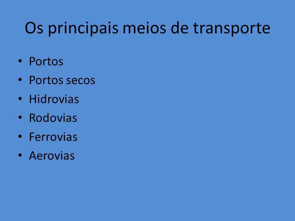 Os principais meios de transporte