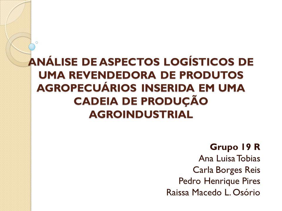 ANÁLISE DE ASPECTOS LOGÍSTICOS DE UMA REVENDEDORA DE PRODUTOS AGROPECUÁRIOS INSERIDA EM UMA CADEIA DE PRODUÇÃO AGROINDUSTRIAL