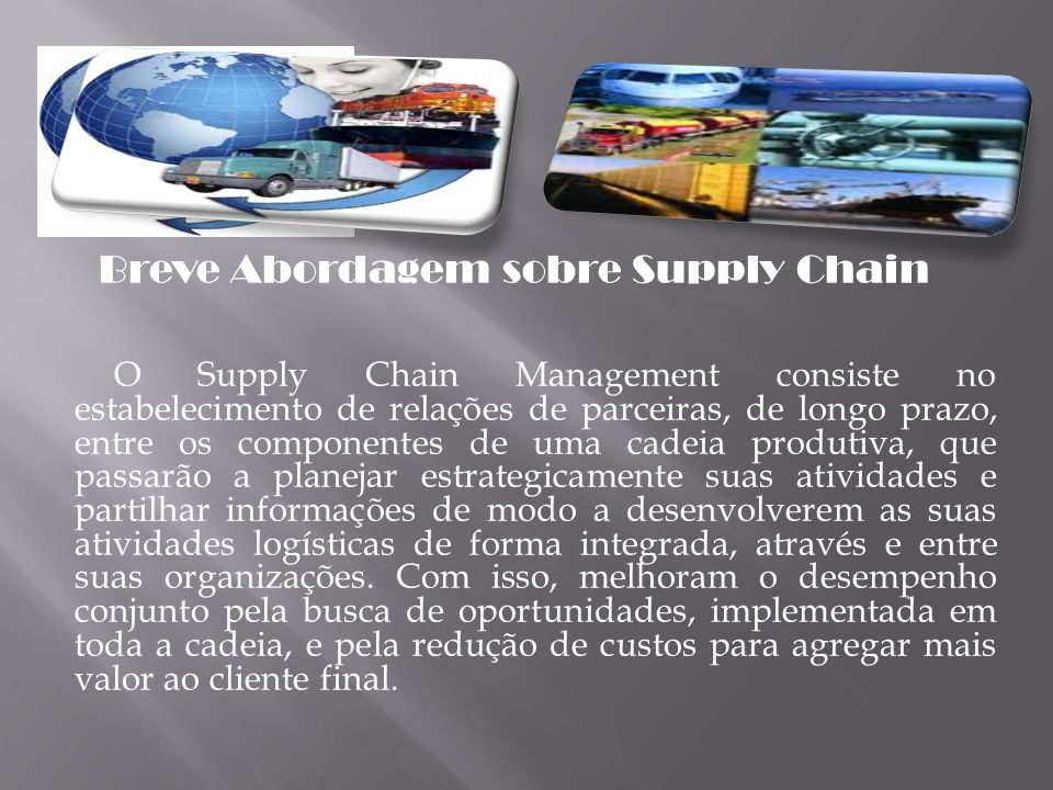 Breve Abordagem sobre Supply Chain