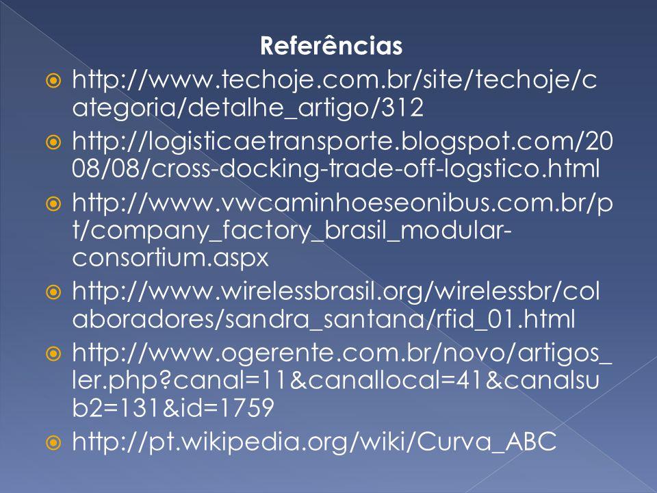 Referências http://www.techoje.com.br/site/techoje/categoria/detalhe_artigo/312.