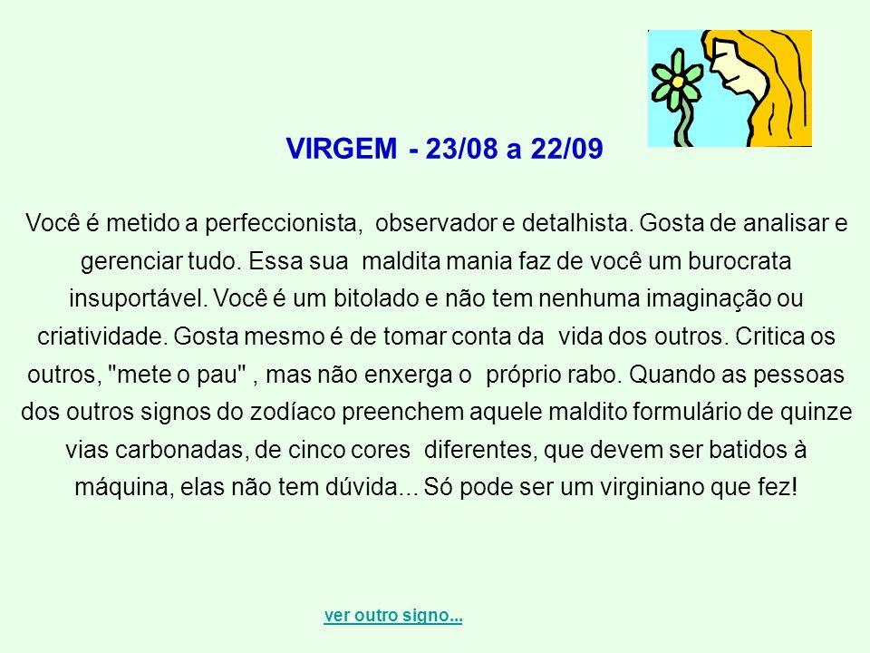 VIRGEM - 23/08 a 22/09