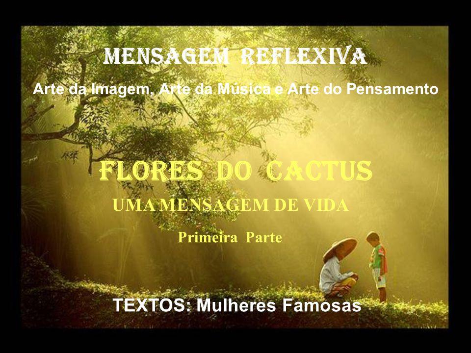 FlorES dO cactus MENSAGEM REFLEXIVA UMA MENSAGEM DE VIDA
