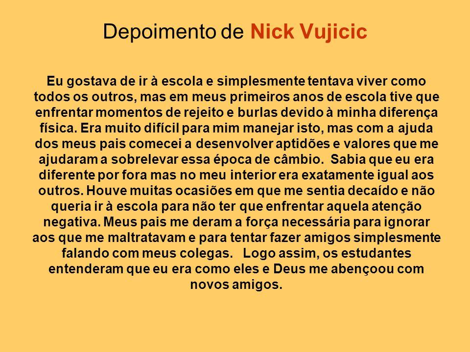 Depoimento de Nick Vujicic