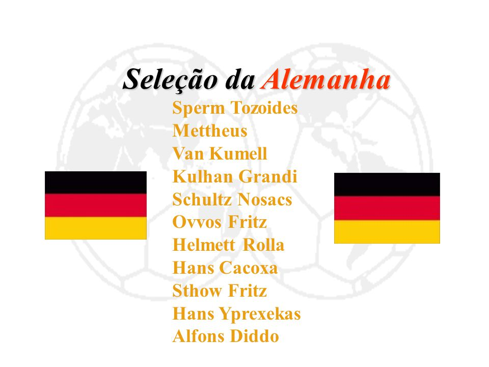 Seleção da Alemanha Mettheus Van Kumell Kulhan Grandi Schultz Nosacs