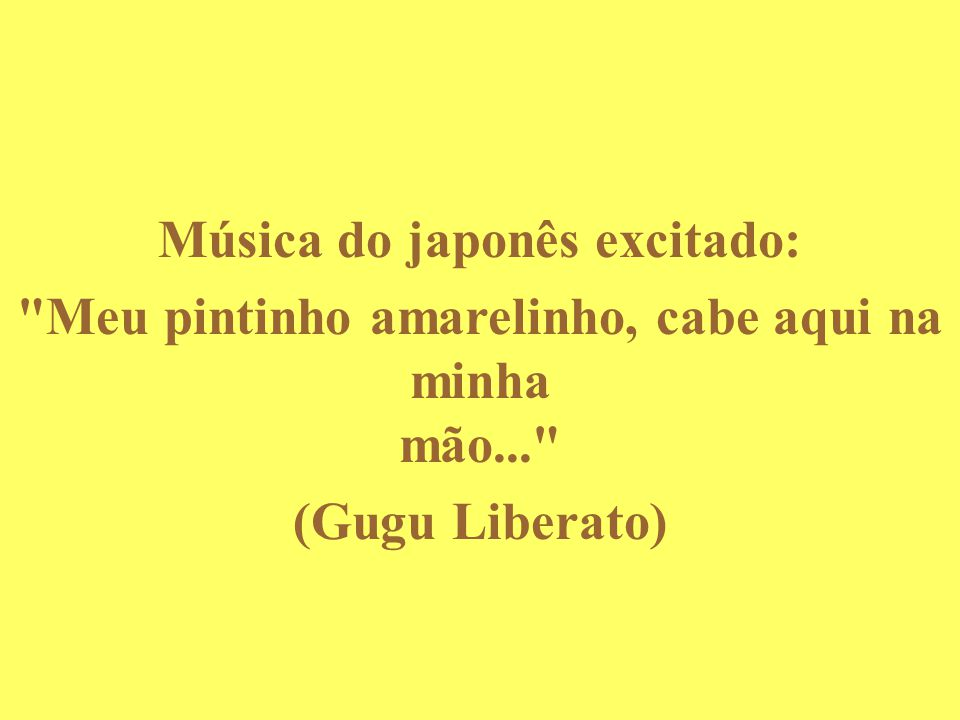 Música do japonês excitado: