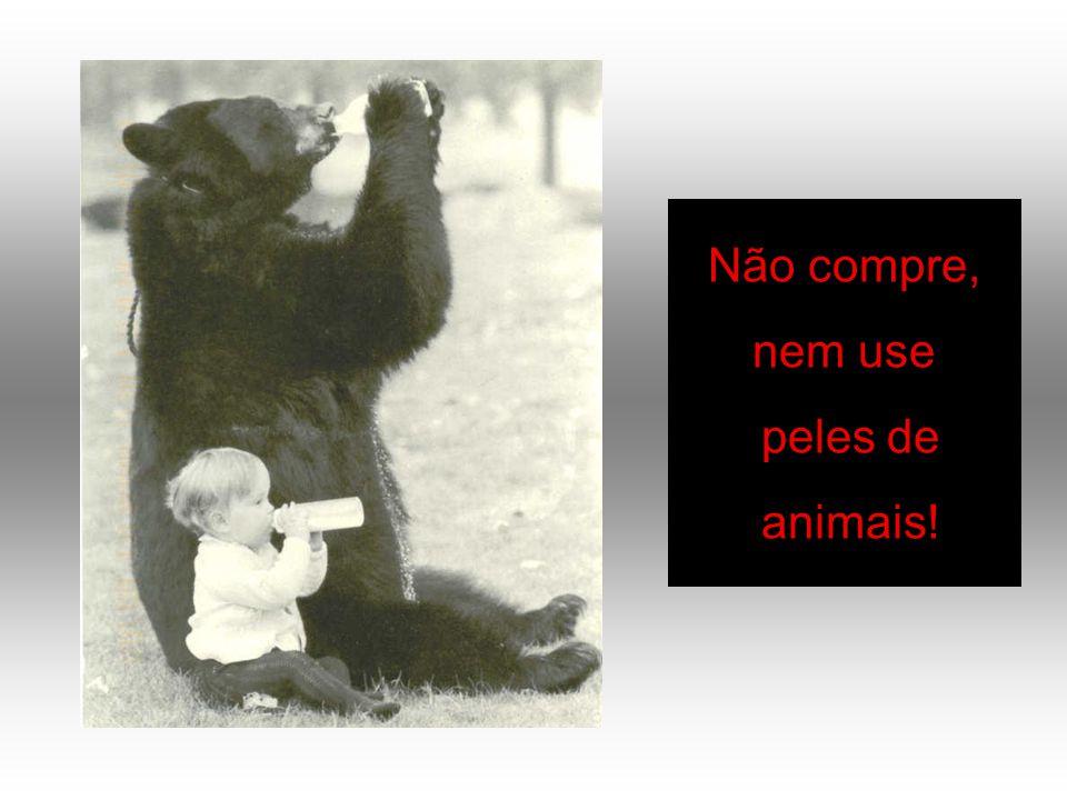 Não compre, nem use peles de animais!