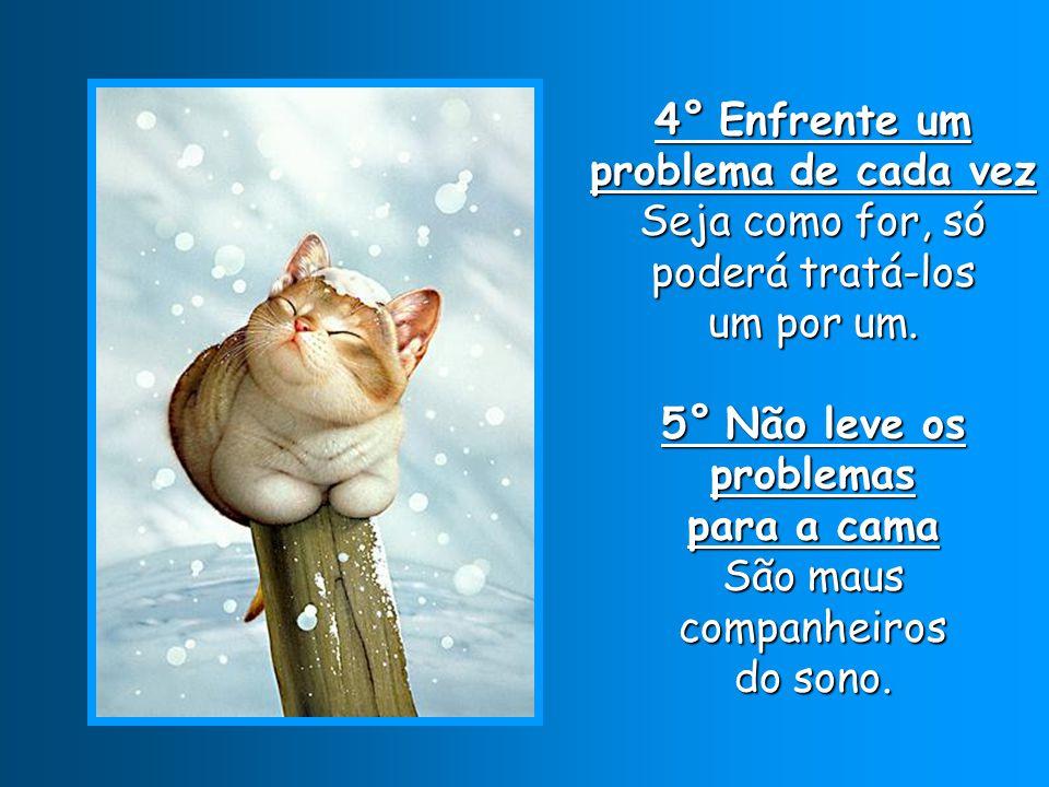 4° Enfrente um problema de cada vez Seja como for, só poderá tratá-los um por um.