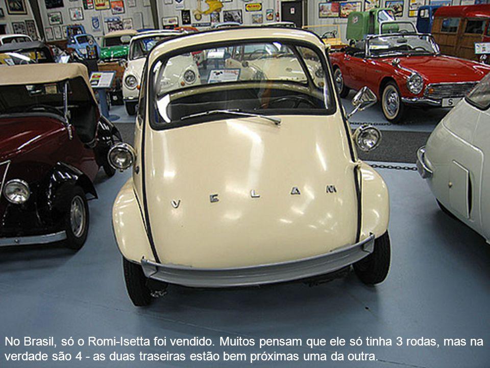 No Brasil, só o Romi-Isetta foi vendido