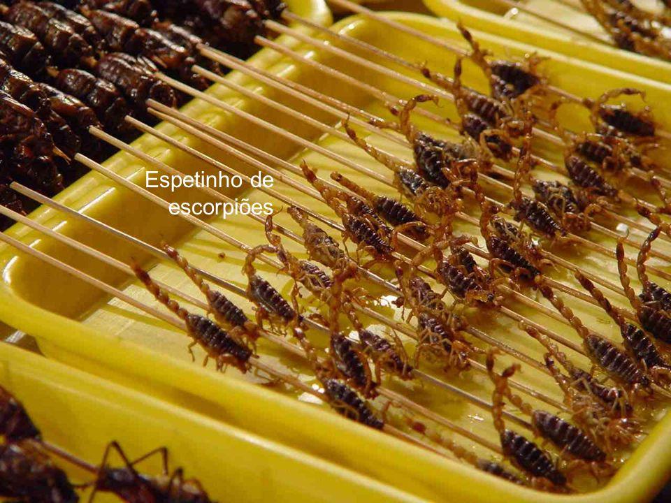 Espetinho de escorpiões