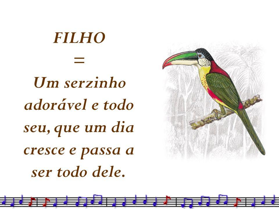 FILHO = Um serzinho adorável e todo seu, que um dia cresce e passa a ser todo dele.