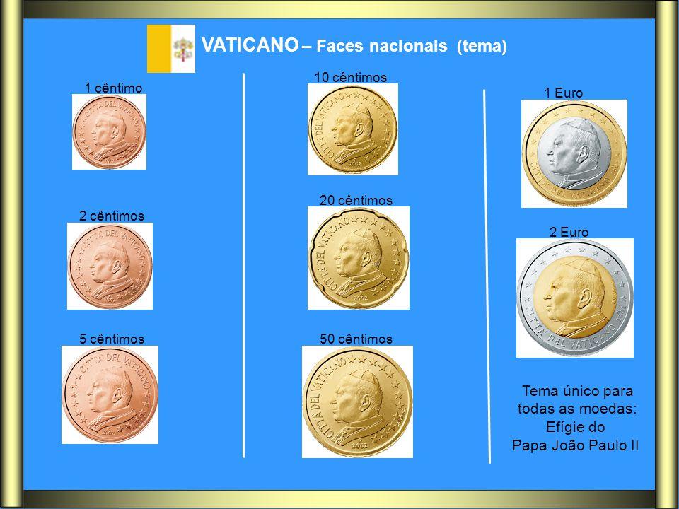 VATICANO – Faces nacionais (tema)