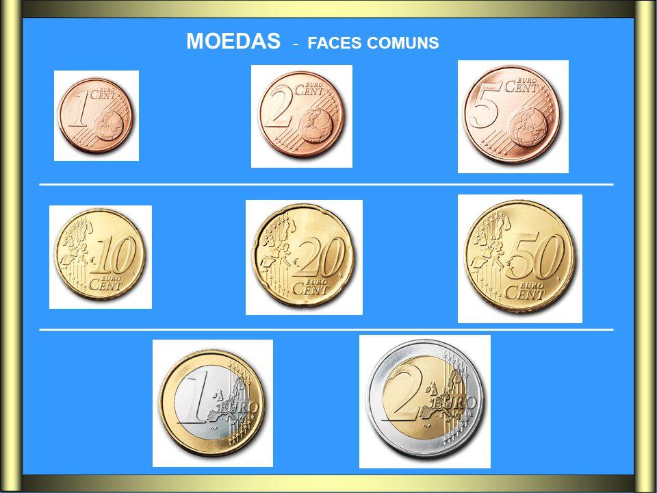 MOEDAS - FACES COMUNS