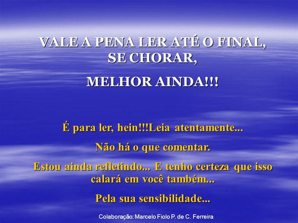 VALE A PENA LER ATÉ O FINAL, SE CHORAR, MELHOR AINDA!!!