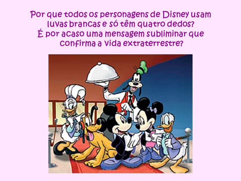 Por que todos os personagens de Disney usam