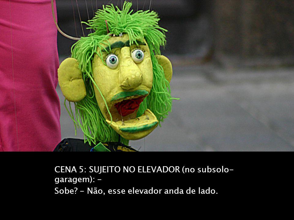CENA 5: SUJEITO NO ELEVADOR (no subsolo-garagem): -