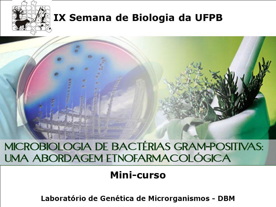 IX Semana de Biologia da UFPB Mini-curso
